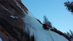 Rock Climbing Photo: Mike C. On Redstone Pillar. Jan 2nd 2015