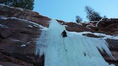 Rock Climbing Photo: Mike C. Redstone Pillar. Jan 2nd 2015.