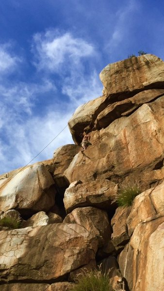 Rock Climbing Photo: Right were this climb becomes full value!!! Photo ...