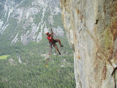Rock Climbing Photo: Jace (after dropping a jumar from the 7th pitch), ...