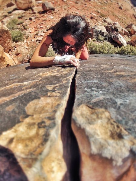 Rock Climbing Photo: Get high feet!