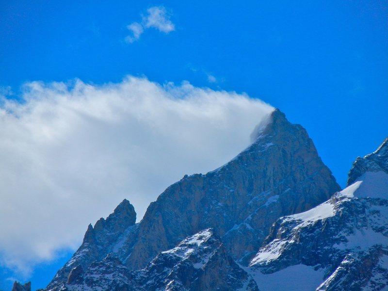 Grand Teton over the east ridge of Mt. Owen.