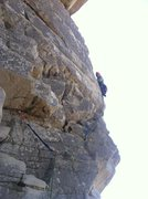 Rock Climbing Photo: Extremely windy, cold, and fun day!