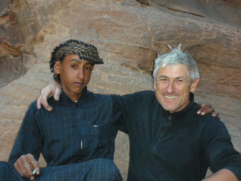 Meeting up again at the base with the original Bedouin Camel Boy. He had prepared tea for us upon arrival back on Terra Firma.