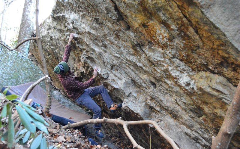 Rock Climbing Photo: Parlier on the fun FA of Rhapsody