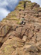 Rock Climbing Photo: Jon on lead