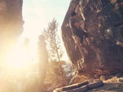Rock Climbing Photo: Working on Shamrock