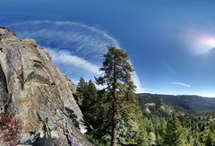 Fresno Dome View from S. Pillar Climb