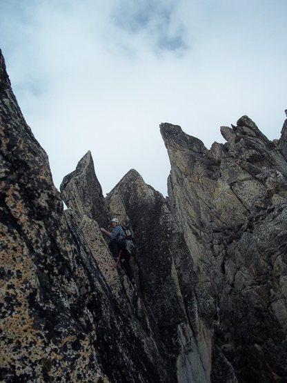 Rock Climbing Photo: Pitch 7. Very exposed ridge.
