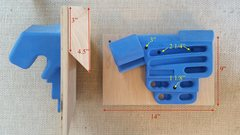 Rock Climbing Photo: Floating cleat setup for the RPTC.  Red dimensions...