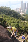 Rock Climbing Photo: FA of Roland the Headless Hilti Gunner.  Photo by ...