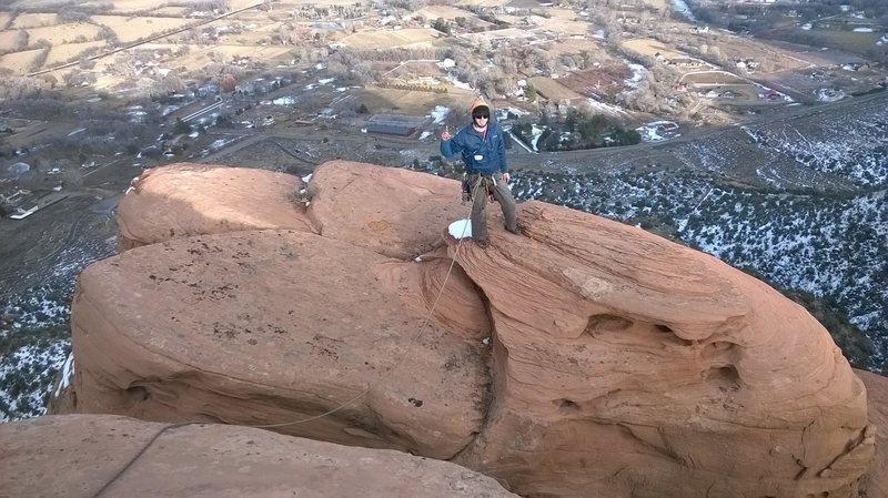 Rock Climbing Photo: Summit of lower Irishman's Temple after making the...