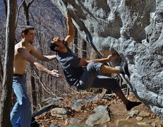 Rock Climbing Photo: unknown V6 on the 45 degree boulder