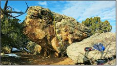 Rock Climbing Photo: Southie State of Mind problem beta.