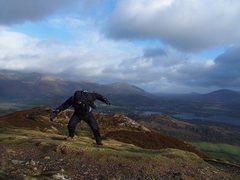 Rock Climbing Photo: 70MPH gusts on Barrow MT Lake District Jan 10th /1...