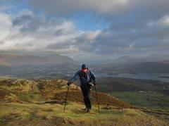 Rock Climbing Photo: Barrow Mt .. Very Windy !! Lake District
