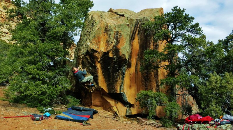 Rock Climbing Photo: Jared LaVacque just a starting the crux of Acromio...