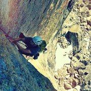 Rock Climbing Photo: Money pitch on Oz.