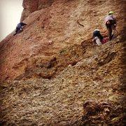 Rock Climbing Photo: Zach leading pitch three if wherever I may roam, p...
