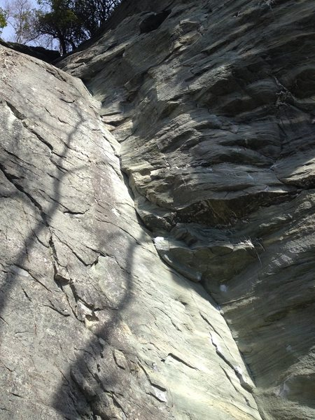 Rock Climbing Photo: You can't see the finish or the anchors in this ph...
