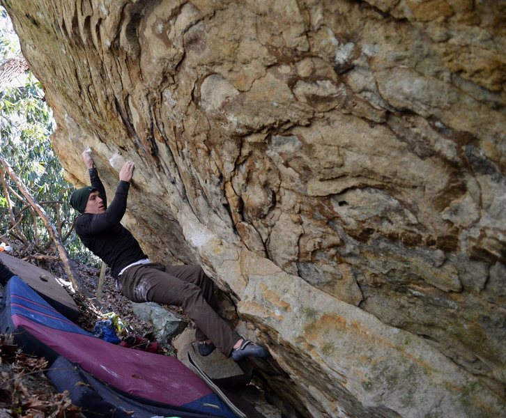 "Keith Shockley on the 2nd ascent of ""Humble Pie Traverse"""