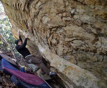 """Rock Climbing Photo: Keith Shockley on the 2nd ascent of """"Humble P..."""