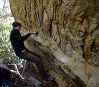 Rock Climbing Photo: Keith Shockley on the 2nd ascent of Humble Pie Dir...