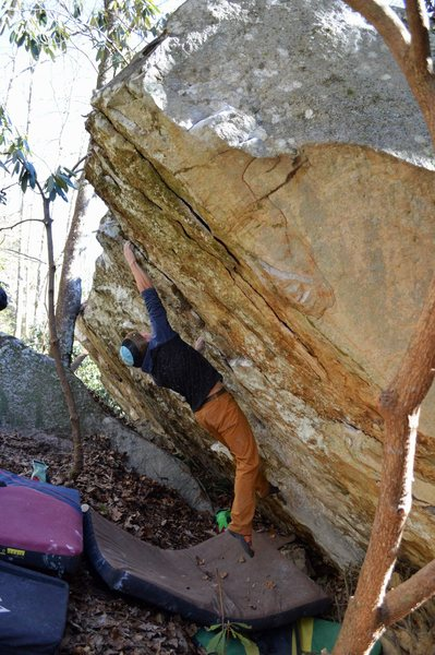 Rock Climbing Photo: Brad Mathisen gunning for the 2nd ascent of Americ...