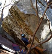 Rock Climbing Photo: Brad Mathisen moving off the start and gunning for...