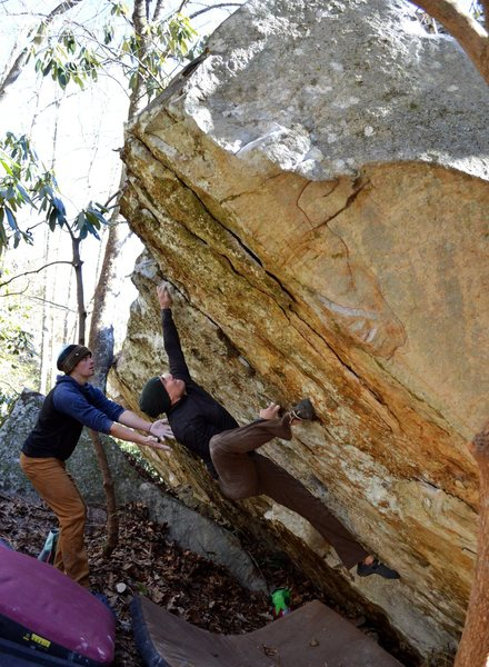 Rock Climbing Photo: Keith Shockley on the 3rd ascent of American Expre...