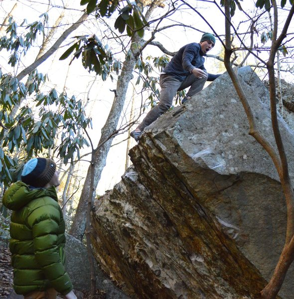 Keith Shockley with the 3rd ascent and being just as psyched to top out American Express as you will be.