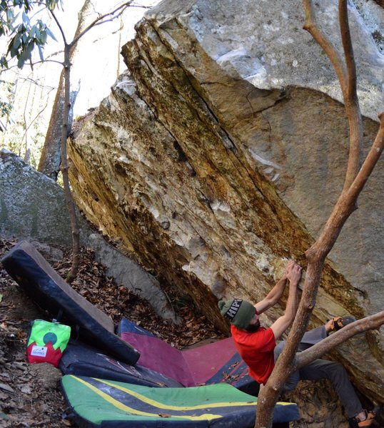 Rock Climbing Photo: Parlier on the start and FA of Maxed Out