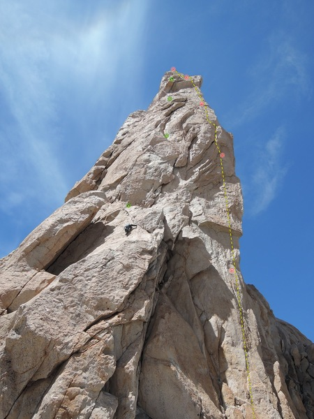Rock Climbing Photo: EMSGMLH Climbs the prominent right arete.