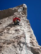 Rock Climbing Photo: Pitch 3: Dave Montgomery picking his way up a beau...