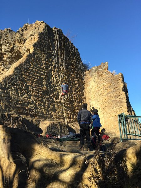 Rock Climbing Photo: Locals practicing their jumaring technique