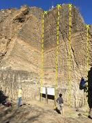Rock Climbing Photo: A - 5.7 B - 5.11 hard C - 5.10 hard D - Short Stop...