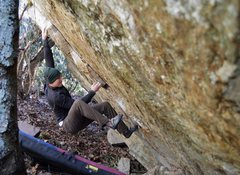 """Rock Climbing Photo: Keith Shockley on """"Face Off"""""""