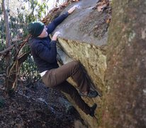 """Rock Climbing Photo: Shockley topping out """"Face Off"""""""