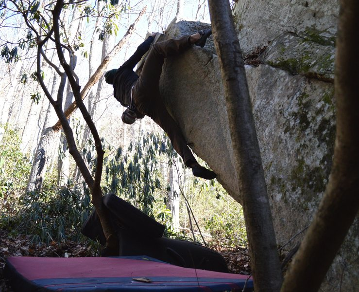"""Keith Shockley on the 2nd ascent of """"Sarene Arete"""""""
