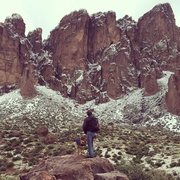 Rock Climbing Photo: Checking out the cliffs at Lost Dutchman State Par...