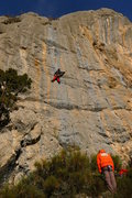 Rock Climbing Photo: Jordi enjoying the rock on 'le mur des lamentation...