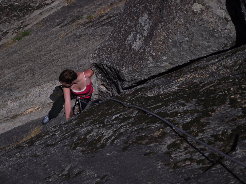Rock Climbing Photo: The Link (5.6) on the NW face Moro