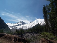 Rock Climbing Photo: Little Tacoma and the summit of Rainier