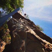 Rock Climbing Photo: Finishing up a stellar climb.  I love arete climbi...