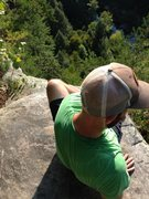 End of the day at The Obed (looking over Tierrany Wall) with Mr. Salmony.