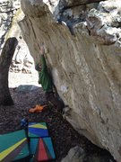 Rock Climbing Photo: Joining the Comet Standard from the Deviation...