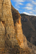 Rock Climbing Photo: Afternoon sun on South Tower which is in the cente...