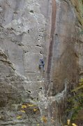Amarillo Sunset 5.11C RRG, Andrew Hodge on climb