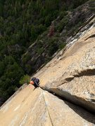 Rock Climbing Photo: Vitaliy cruises the SPLITTER hands of P4 on Silent...