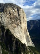 Rock Climbing Photo: A decent view of El Cap from high on the Gold Wall...